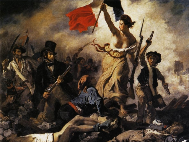 """Liberty on the Barricades,"" Delacroix"