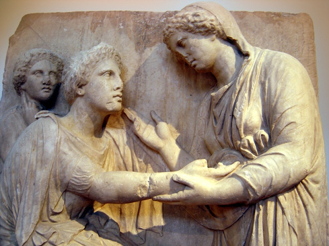 Funerary relief. National Archaeological Museum of Athens.
