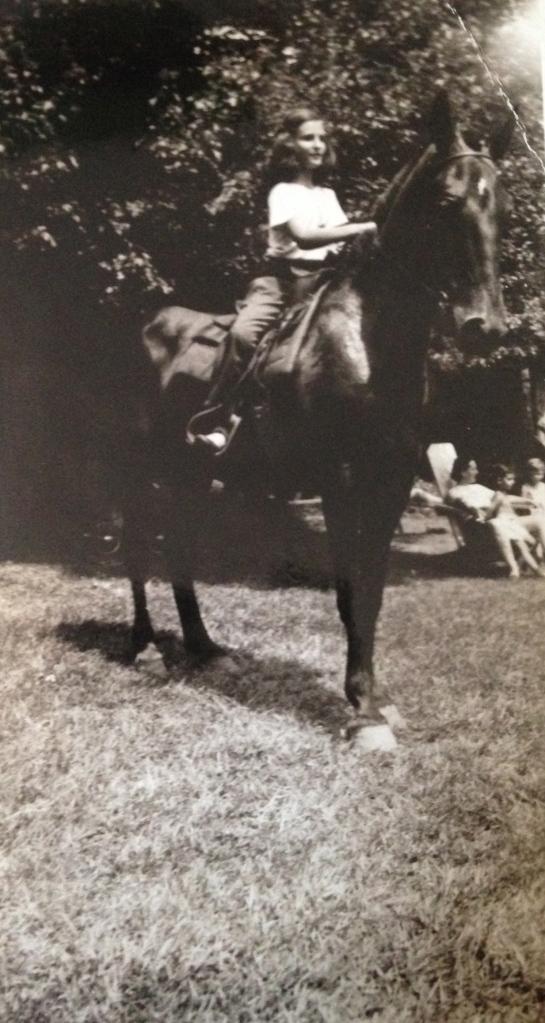 Abbie on horseback