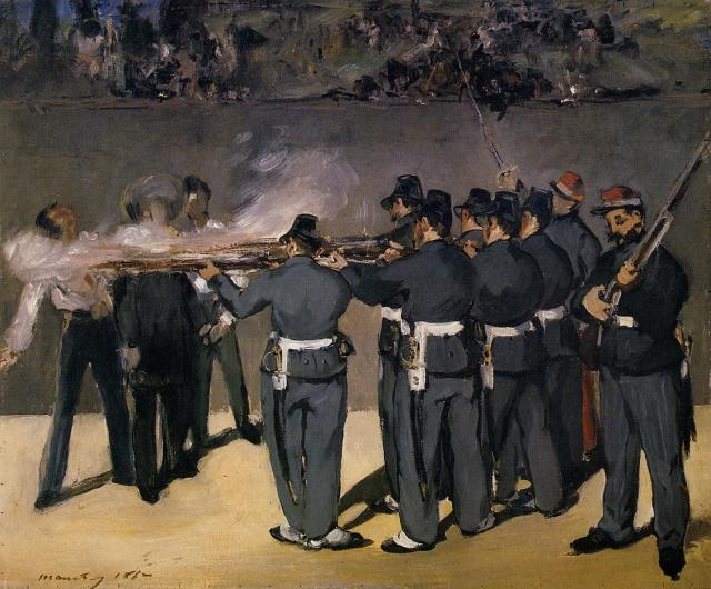 The Execution of the Emperor Maximilian,  Edouard Manet, - 1867