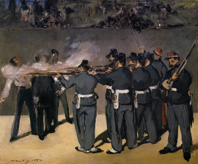 The Execution of the Emperor Maximilian,  Edouard Manet, - 1867