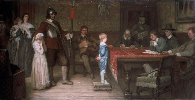 """And when did you last see your father?""  William Frederick Yeames 1878"