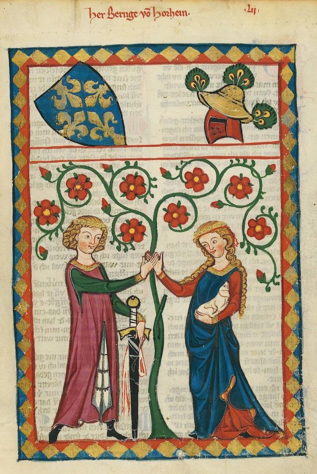 Bernger von Horheim in the Codex Manesse, early 14th century