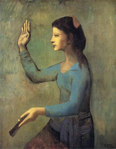 """Woman with a fan""  ""Femme a l' eventail"" Pablo Picasso, 1905"