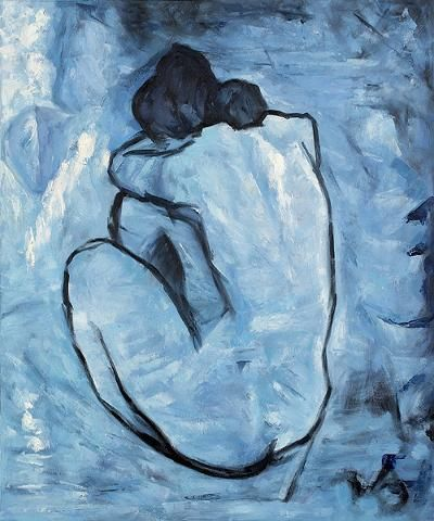 """Blue Girl"" Pablo Picasso, 1902"