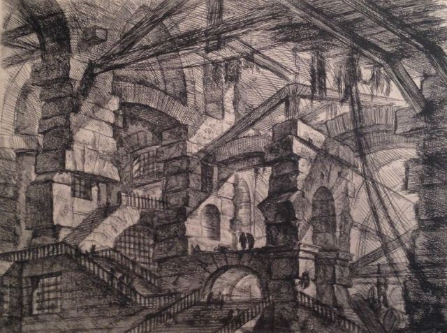 Giovanni Battista Piranesi (1720-1778), from his Opere: Carceri [Prison Series]