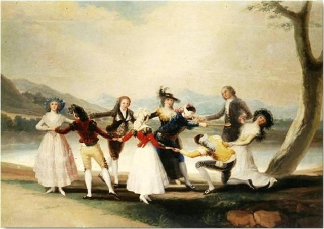 """Blindman's Bluff"" Francisco Goya, 1789"