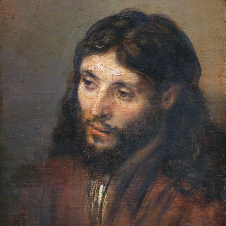 """The Head of Christ"" 1648 Rembrandt, based on a Jewish model."