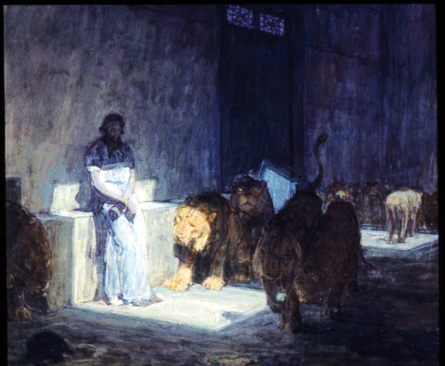 """Daniel in the Lion's Den,"" Henry Ossawa Tanner 1907-1918"