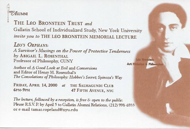 Leo Bronstein Postcard
