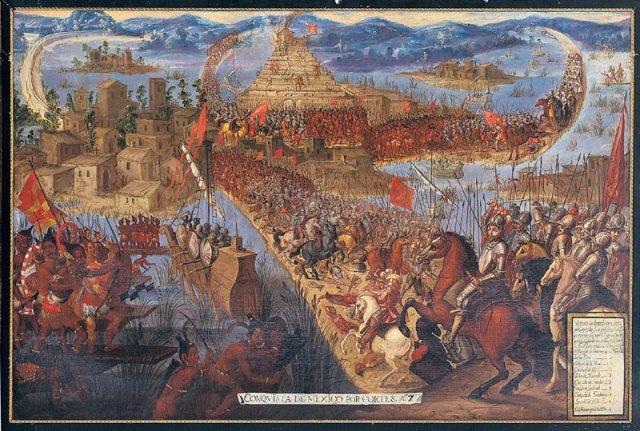 """""""Conquista de México de Cortés"""" 1521, Unknown Artists, 17th century"""