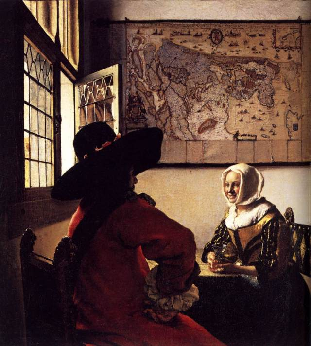 """Officer and Laughing Girl,"" Vermeer, 1655-1660"