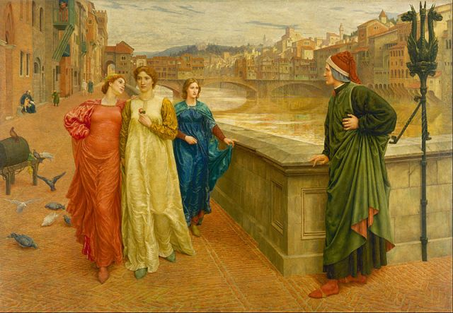 """Dante and Beatrice"" Henry Holiday, 1883"