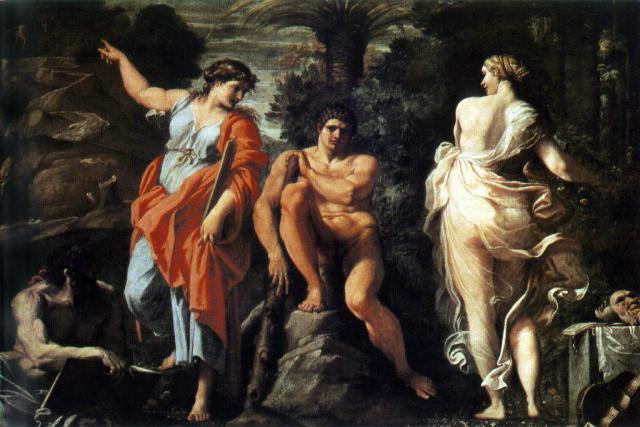 """The Choice of Hercules"" Annibale Carracci 1596"
