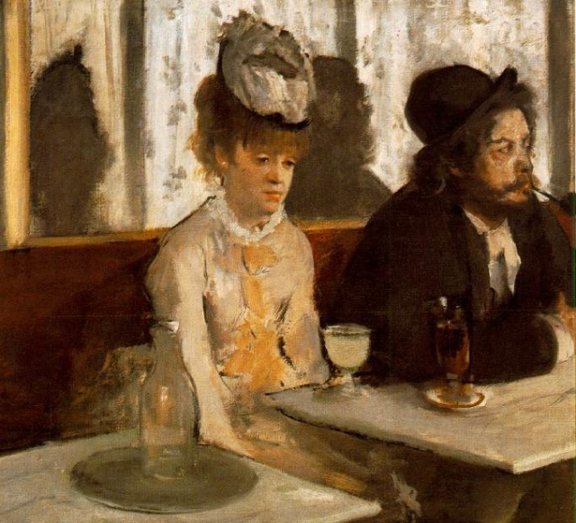 """The Absinthe Drinker"" Edgar Degas, 1876"