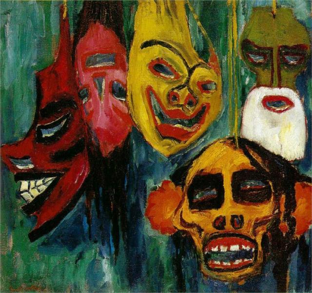 """""""Mask Still Life III"""" Emil Nolde, 1911"""